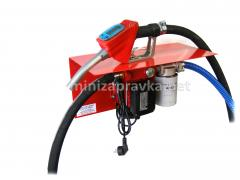 Filling station for diesel fuel with electronic counter