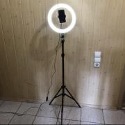 Ring lamp 26 cm on tripod 2 meters with phone holder