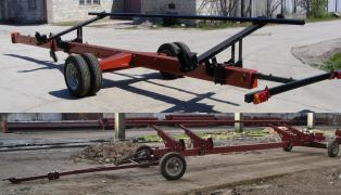 The carriage, the Cart for harvester from 6 to 9 meters, one double axle, buy